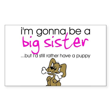 Gonna be a big sister (puppy) Sticker (Rectangle)
