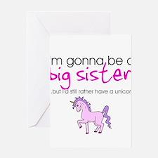 Cute Big sister baby shower Greeting Card