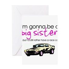 Cute Big sister to be Greeting Card