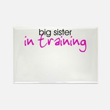 Big Sister in Training Rectangle Magnet