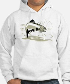 trout fish jumping Hoodie