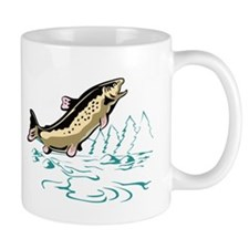 trout fish jumping Mug