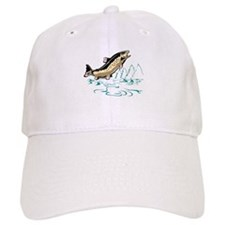 trout fish jumping Baseball Cap