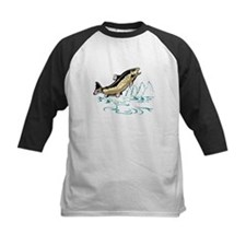 trout fish jumping Tee