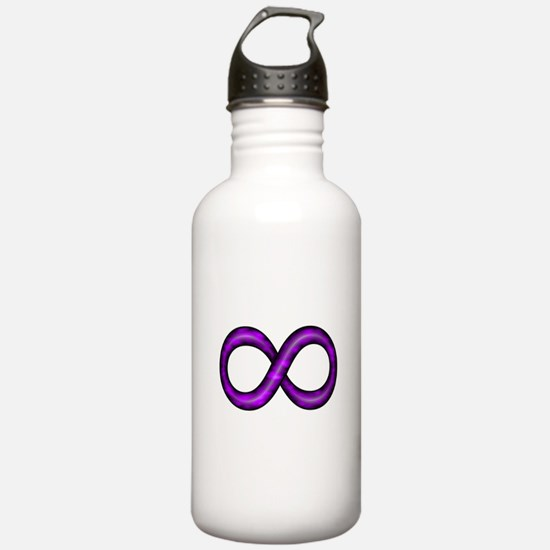 Purple Infinity Symbol Water Bottle