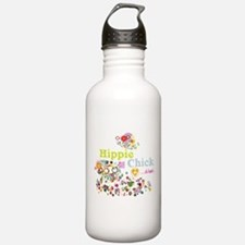 Hippie Chick at Heart Water Bottle