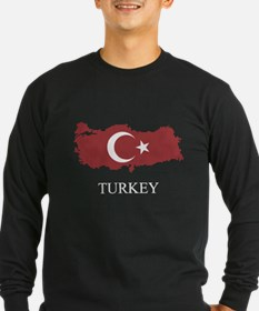 T Turkey Map Turkish Flag