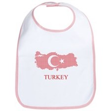 Bib Turkey Map and Turkish Flag