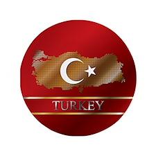 "3.5"" Button Turkey Map and Turkish Flag"