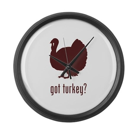 Thanksgiving Day Large Wall Clock