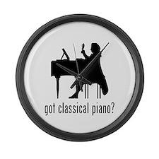 Classical Piano Large Wall Clock