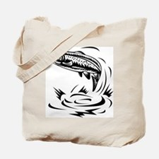 trout fish jumping Tote Bag