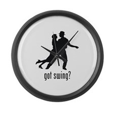 Swing Dancing Large Wall Clock