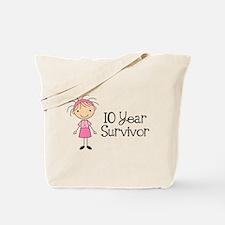 10 Year Survivor Breast Cancer Tote Bag