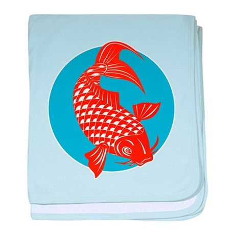 koi carp fish Infant Blanket
