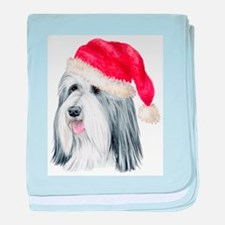 Christmas Bearded Collie Infant Blanket