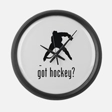 Hockey 4 Large Wall Clock