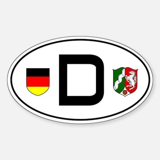 Germany car sticker (Nordrhein-Westfalen variant)