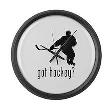 Hockey 2 Large Wall Clock