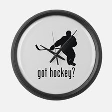 Hockey 2 Large Wall Clock