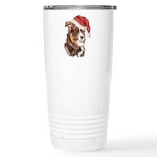 Christmas Border Collie Travel Mug