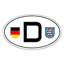 Germany car sticker (Thueringen variant)