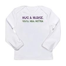Hug a Nurse Long Sleeve Infant T-Shirt