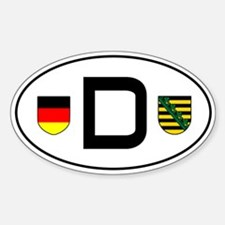 Germany car sticker (Sachsen variant)