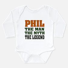 PHIL - The Legend Long Sleeve Infant Bodysuit