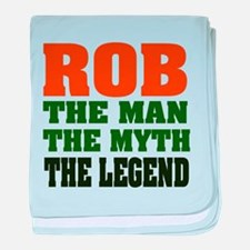 Rob the Legend baby blanket