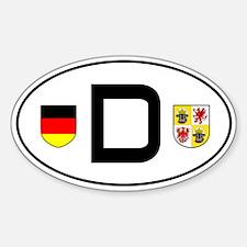 Germany car sticker (Mecklenburg-Vorp. variant)