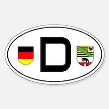 Germany car sticker (Sachsen-Anhalt variant)