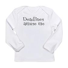 Deadlines Amuse Me Long Sleeve Infant T-Shirt