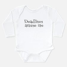 Deadlines Amuse Me Long Sleeve Infant Bodysuit