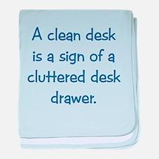 Clean Desk Infant Blanket