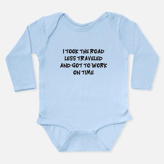 Road Less Traveled Long Sleeve Infant Bodysuit