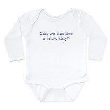 Snow Day Long Sleeve Infant Bodysuit