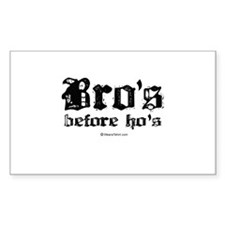 Bro's before Ho's - Rectangle Decal