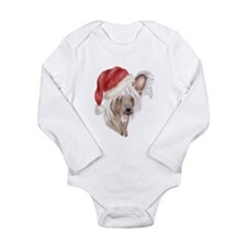 Christmas Chinese Crested dog Long Sleeve Infant B