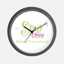 Spa Diva 2 Wall Clock