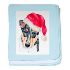 Christmas Collie, Short-haire Infant Blanket