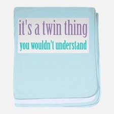 Twin Thing 2 Infant Blanket
