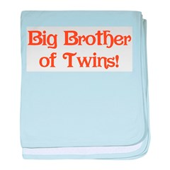 Big Brother of Twins Infant Blanket