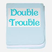Double Trouble Blue Infant Blanket