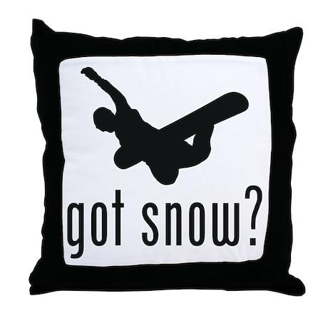 Snowboarding 3 Throw Pillow