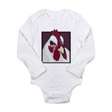 White Chicken Long Sleeve Infant Bodysuit