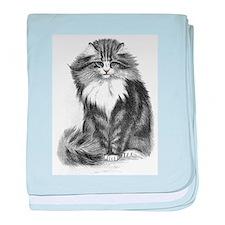 Beautiful Blue Eyed Cat Infant Blanket