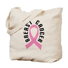 Pretty Pink Breast Cancer Ribbon Tote Bag