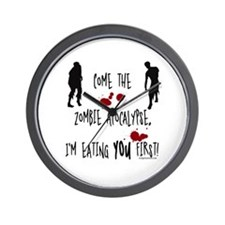 Zombie apocalypse, you first Wall Clock