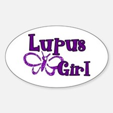Lupus Girl Sticker (Oval)